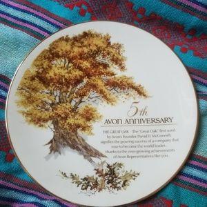 5th Avon Anniversary Plate